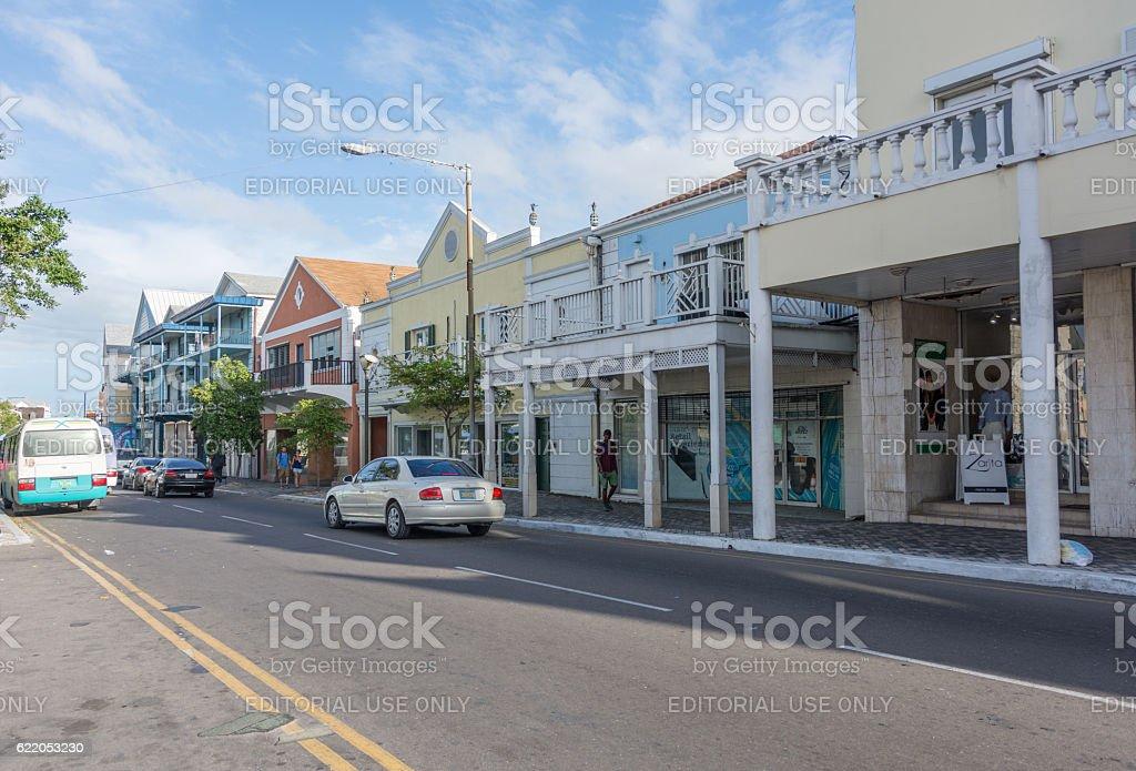 Nassau, Bahamas Bay Street stock photo