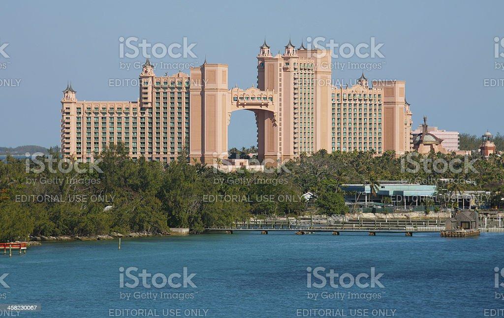 Nassau, Bahamas February 4, 2013: Atlantis Paradise Island stock photo