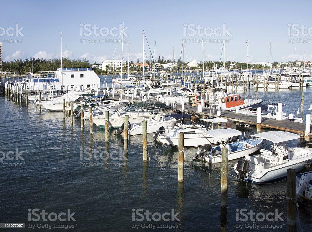 Nassau Bahamas marina royalty-free stock photo