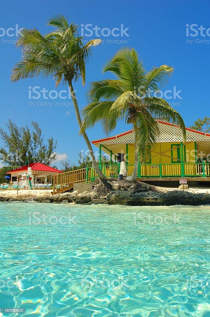 nassau beach stock photo