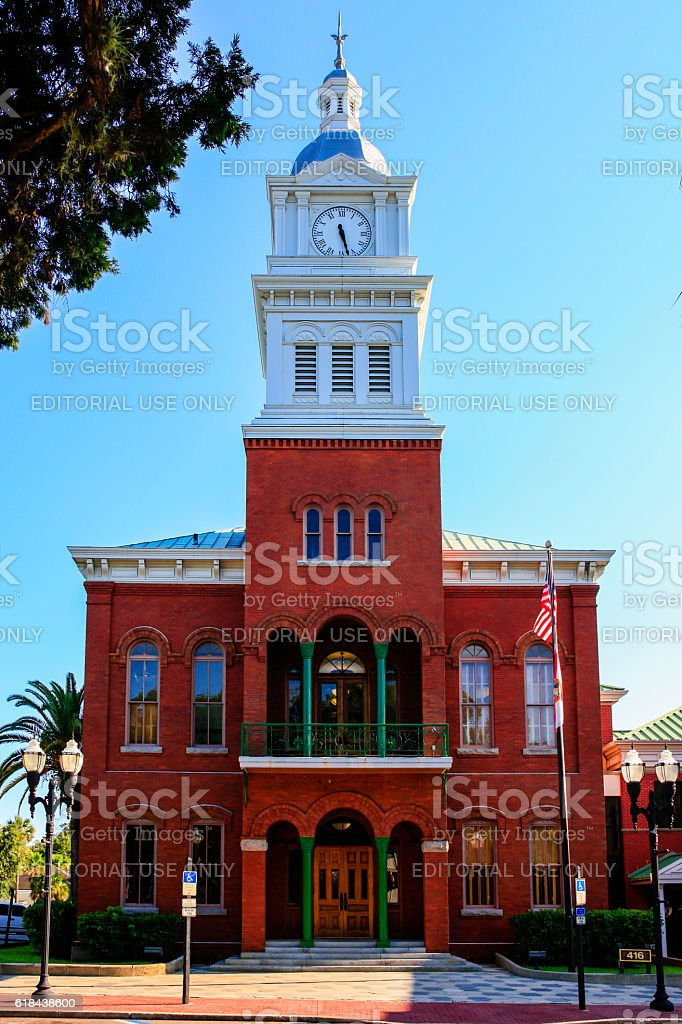 Nassau County Historic Courthouse building in Fernandina Beach City, Florida stock photo