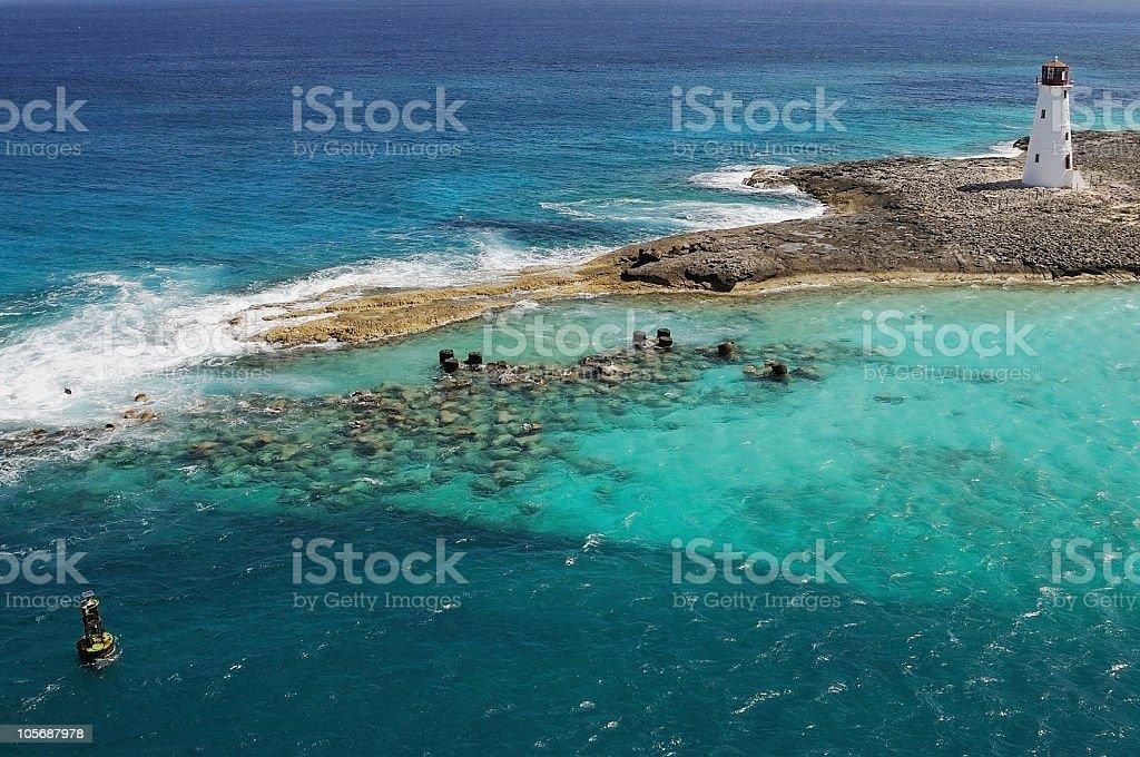 Nassau Harbor Lighthouse royalty-free stock photo