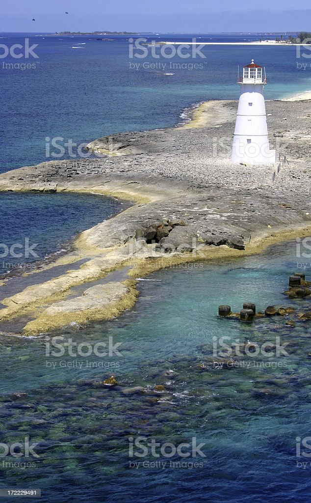 Nassau Lighthouse royalty-free stock photo