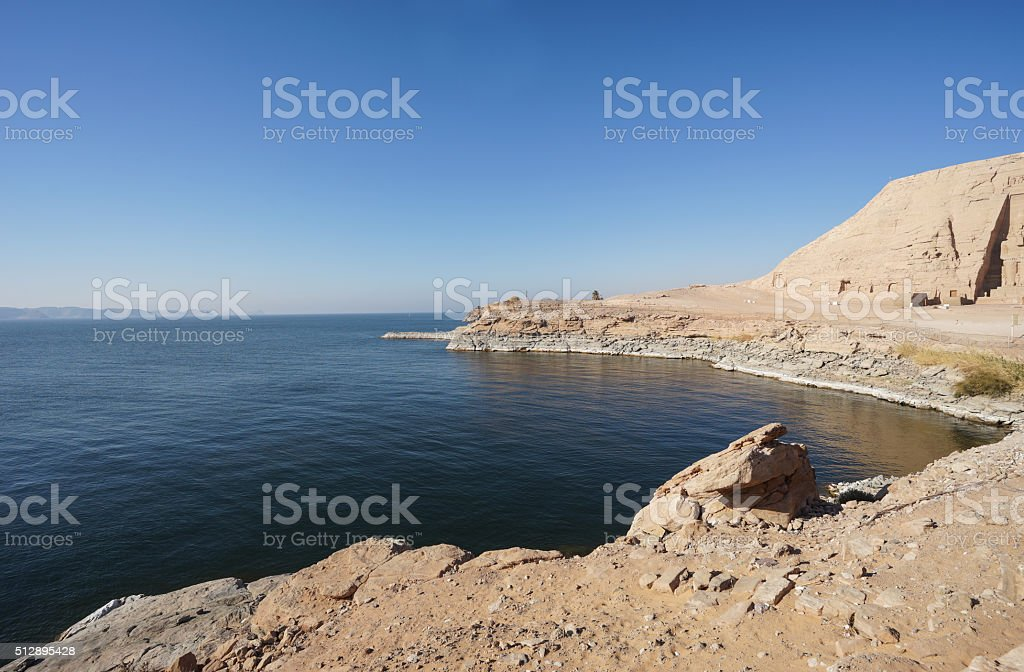 Nasser Lake of Egypt stock photo