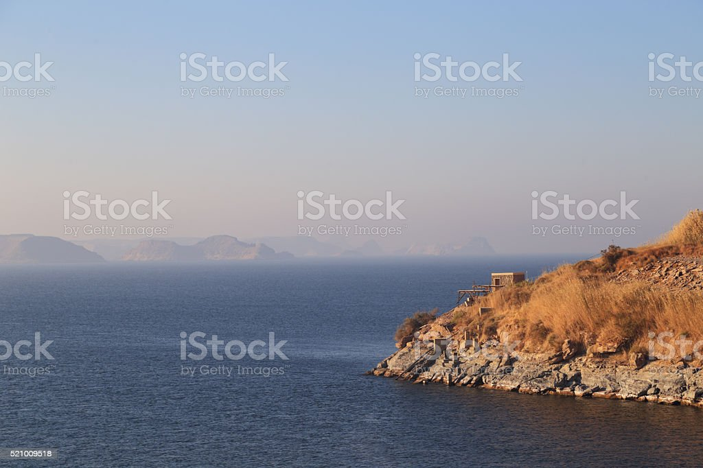 Nasser Lake; Sea; mountain; vacation; leisure; quiet; coconut tr stock photo