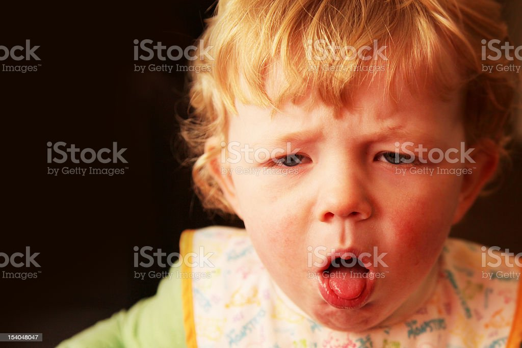 Nasty Cough royalty-free stock photo