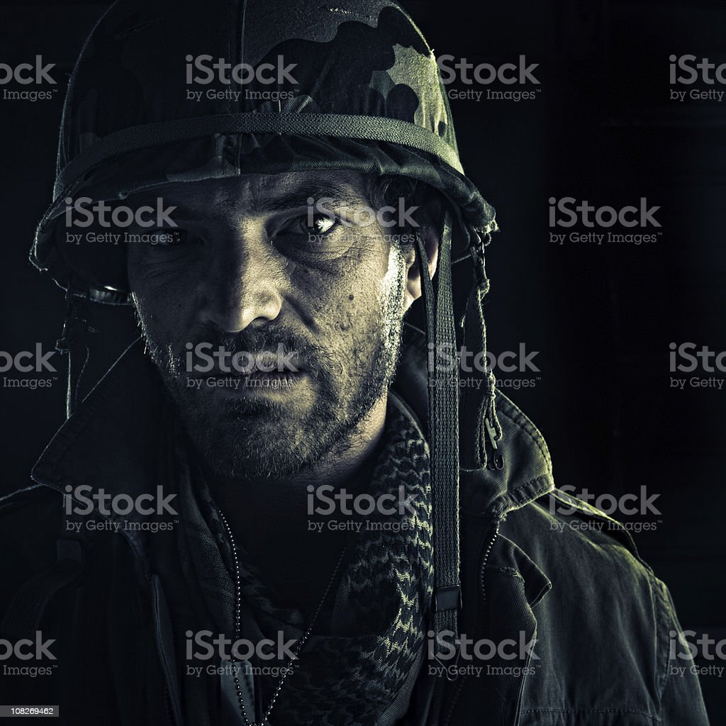 nasty officer royalty-free stock photo