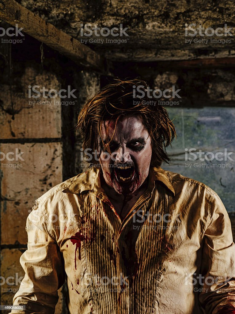 Nasty zombie royalty-free stock photo