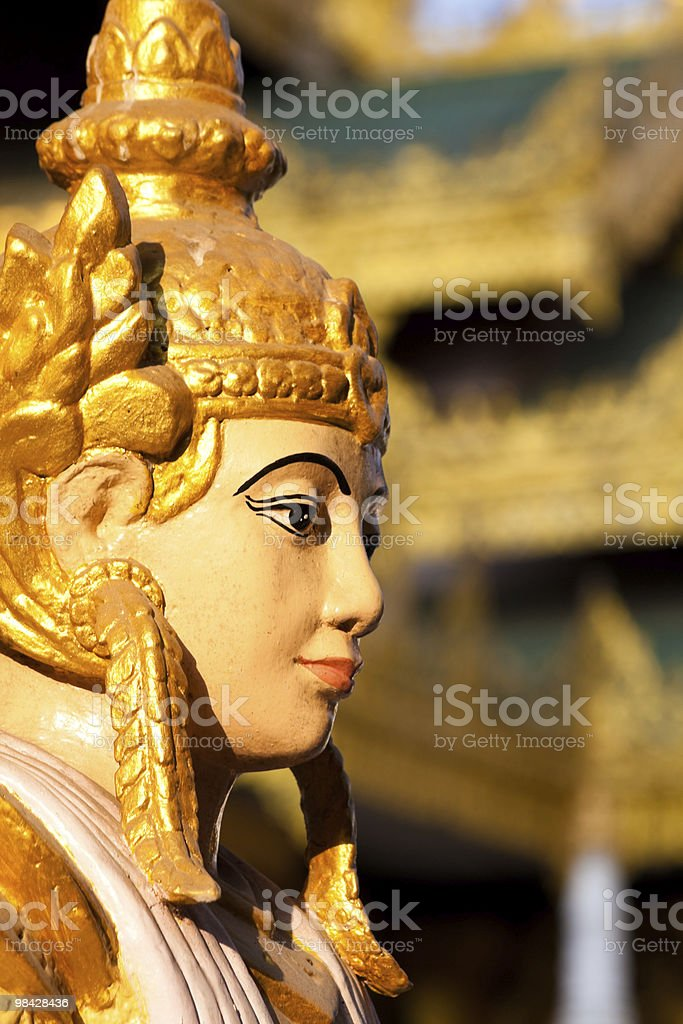 Nat (Spirit) statue at Shwedagon Pagoda, Myanmar royalty-free stock photo