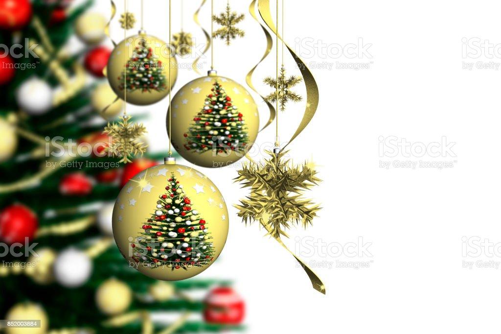 Natale Decorazione Abete 002_1 stock photo