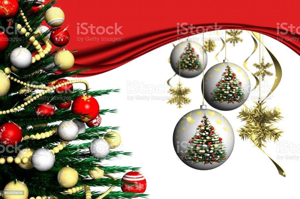 Natale Decorazione Abete 002_13 stock photo