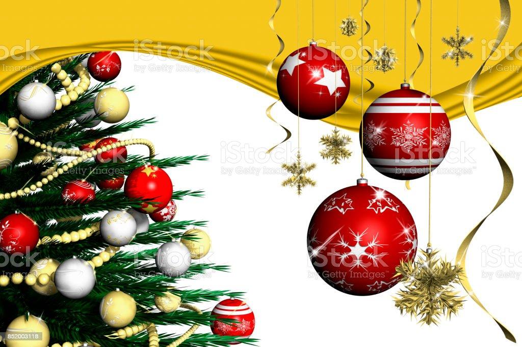 Natale Decorazione Abete 002_5 stock photo