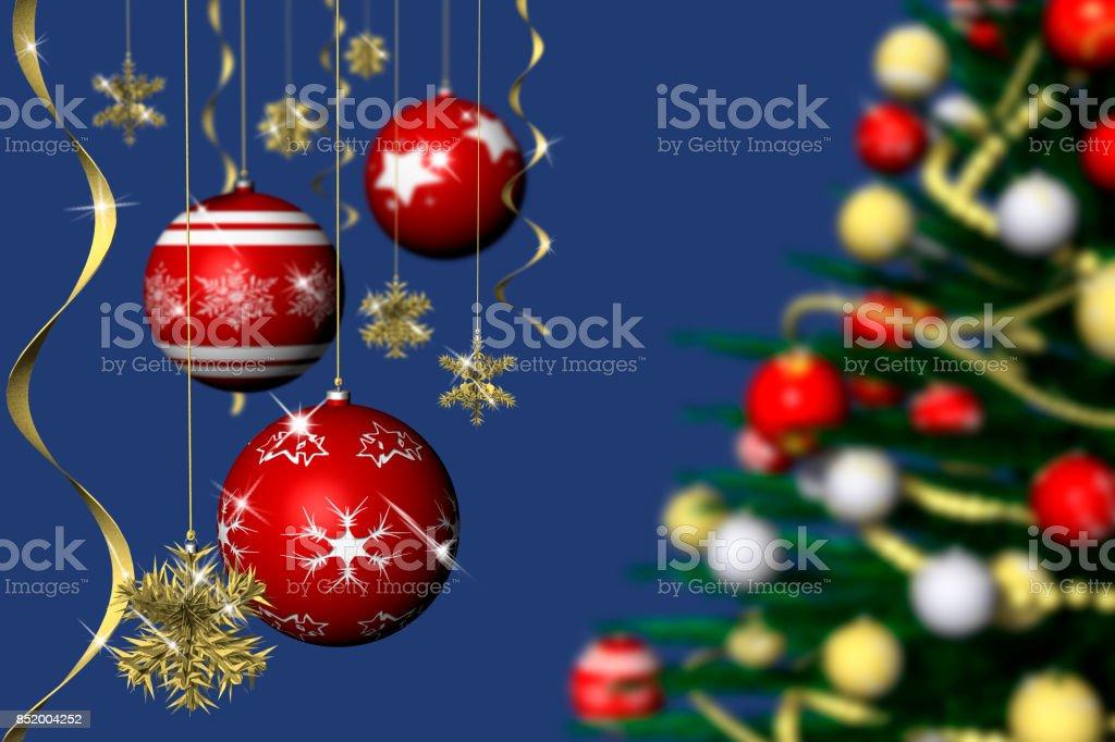Natale Decorazione Abete 1 stock photo