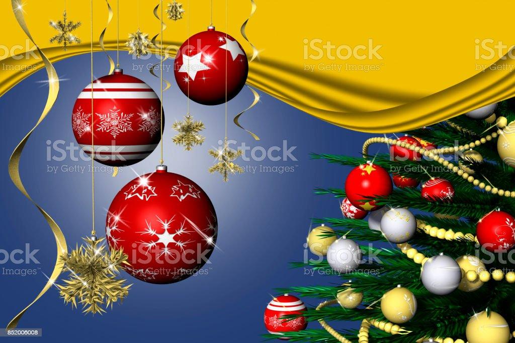 Natale Decorazione Abete 17 stock photo