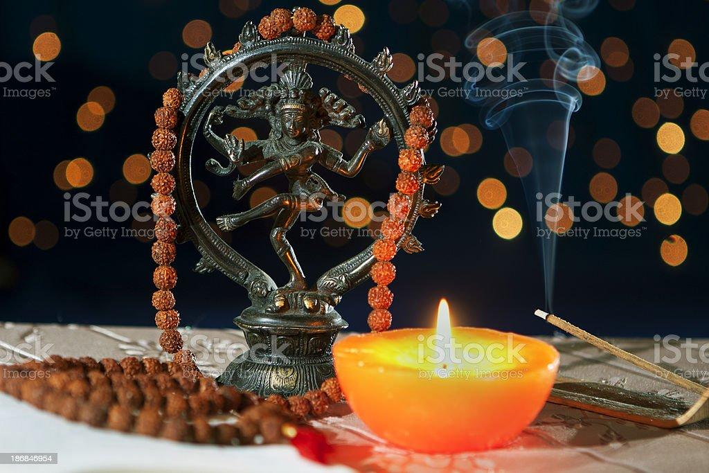 Nataraja Hinduism symbol stock photo
