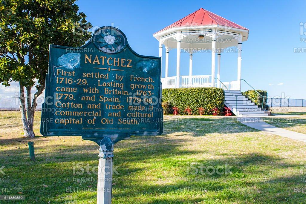 Natchez National Historic Park - Mississippi stock photo