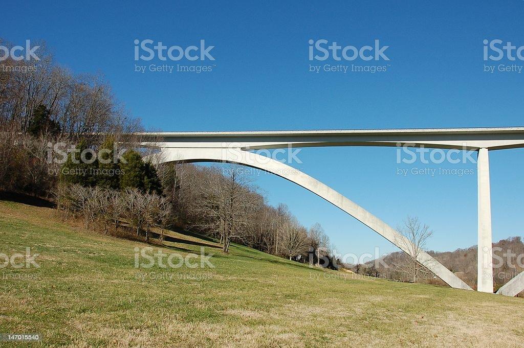 Natchez Trace Bridge stock photo