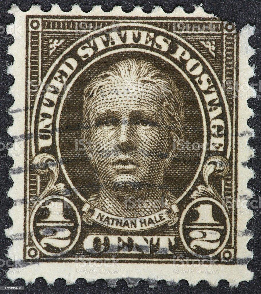 Nathan Hale stamp 1922 stock photo