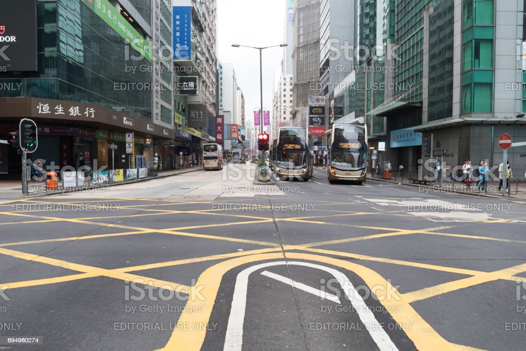 Nathan Road in Morning stock photo