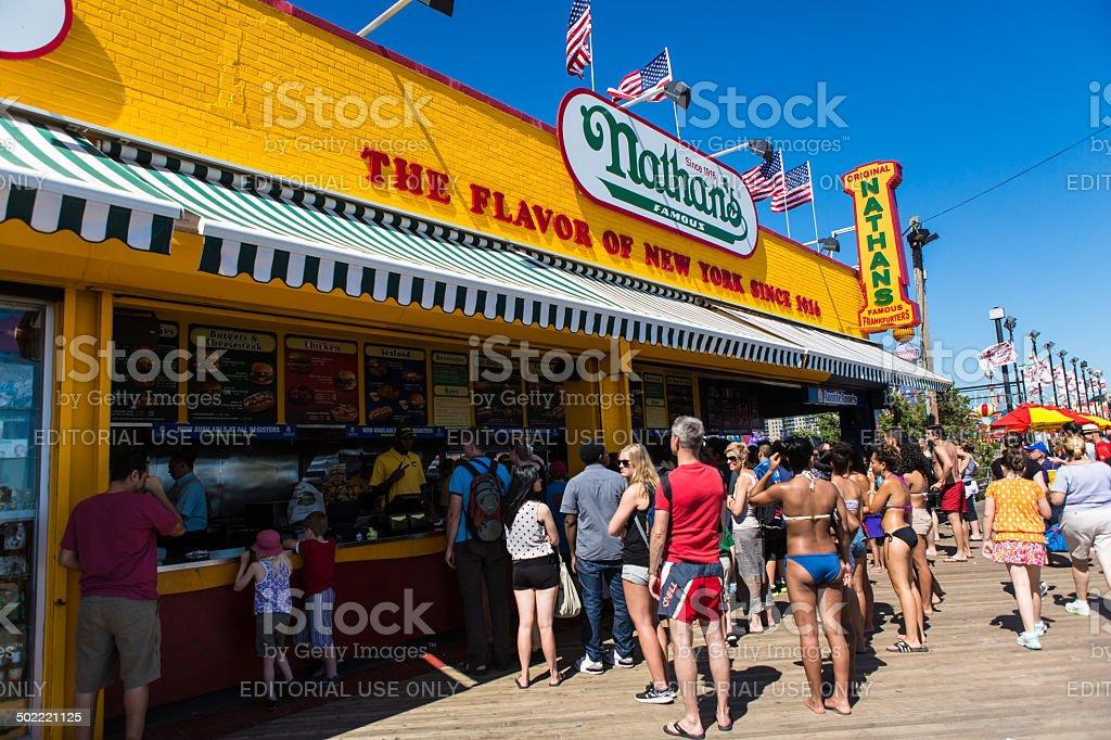 Nathan's Famous in Coney Island, NY stock photo