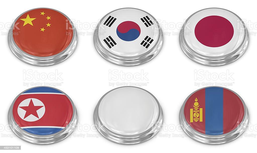 Nation flag icon set royalty-free stock photo