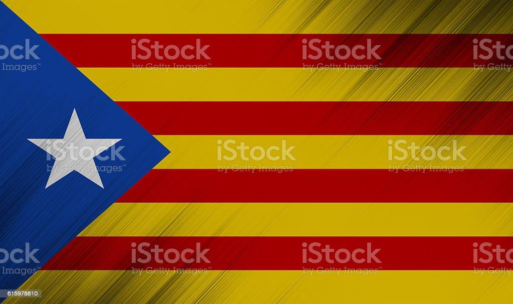 Nation flag of european country  - catalonia - L'Estelada stock photo