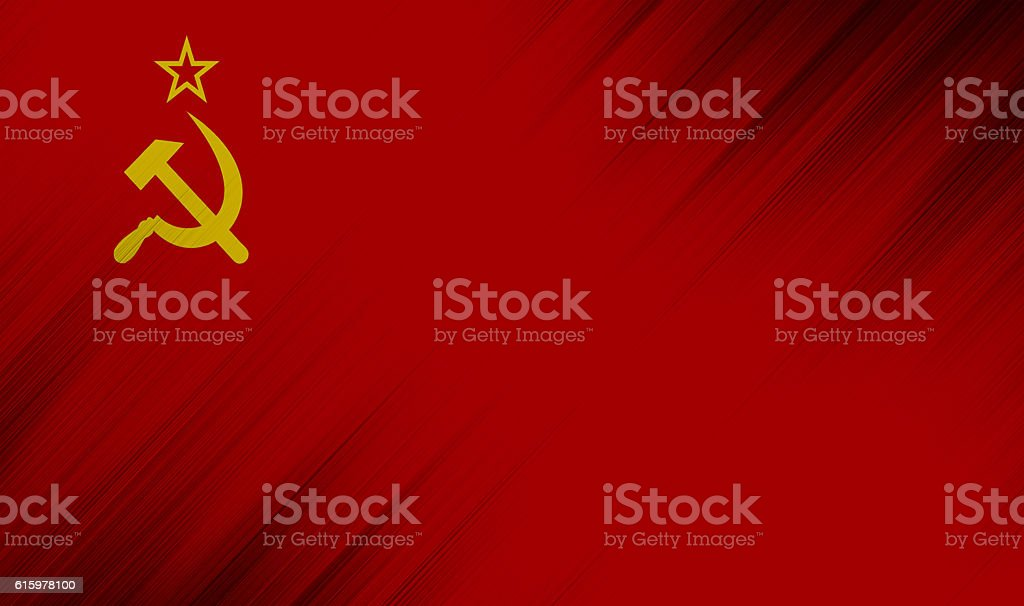 Nation flag of european country  - Soviet Union - SSSR stock photo