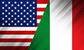 Nation flag  - USA - Italy