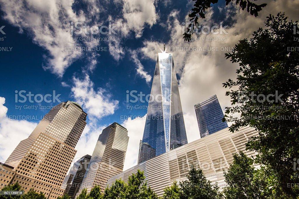 National 9/11 Memorial in Ground Zero stock photo