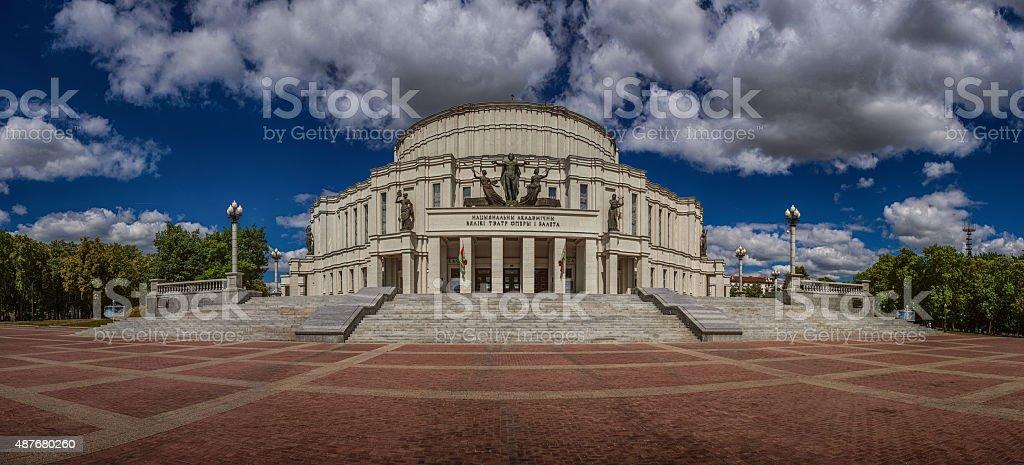 National Academic Bolshoi Opera and Ballet Theatre of Belarus stock photo