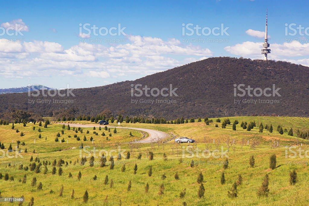 National Arboretum Canberra stock photo