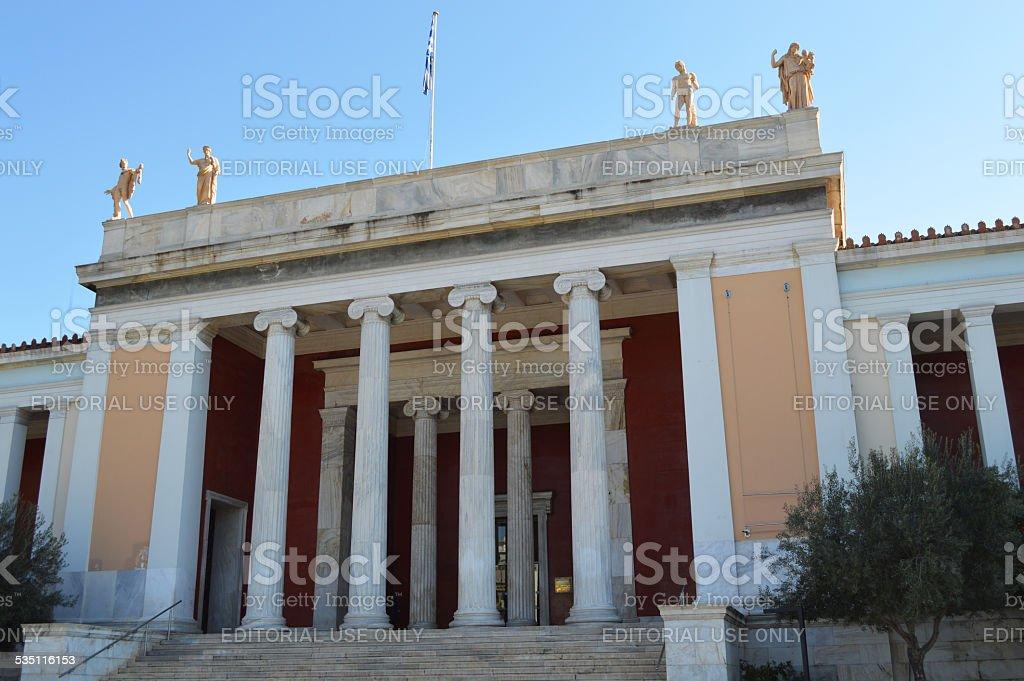 Arqueológicos museo nacional de atenas foto de stock libre de derechos