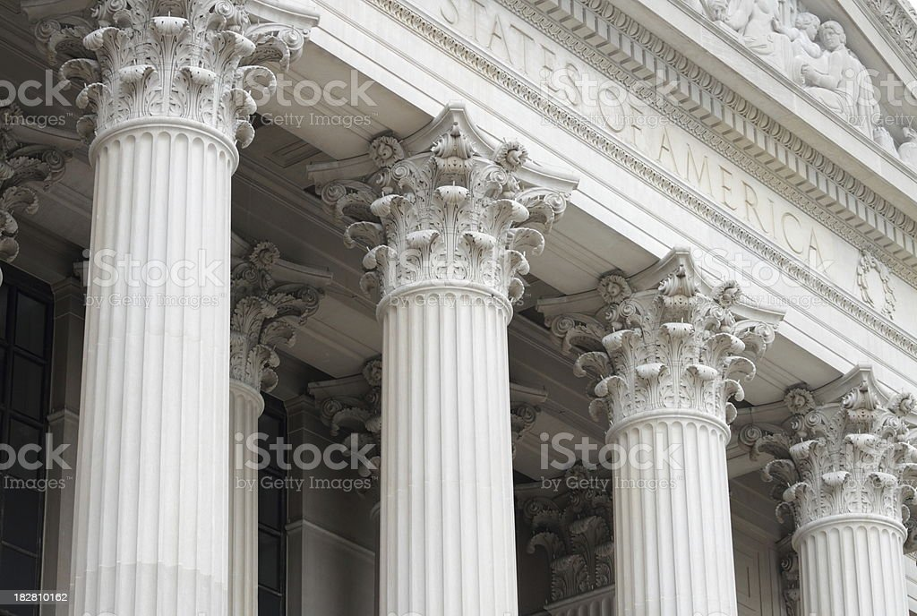 National Archives Building in Washington DC stock photo