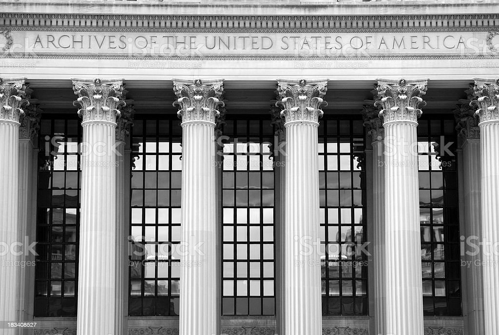 National Archives royalty-free stock photo