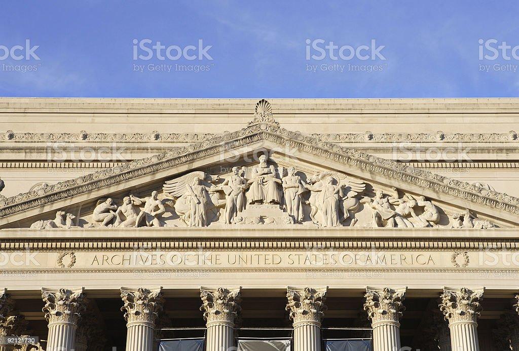 National Archives, Washington, DC stock photo