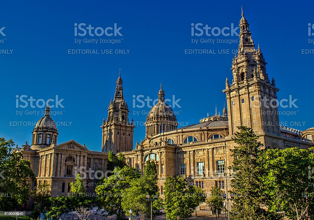 National Art Museum of Catalonia in Barcelona, Spain stock photo