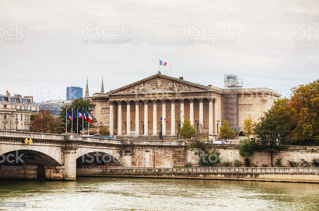 National Assembly building in Paris stock photo