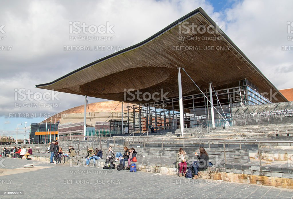 National Assembly for Wales stock photo