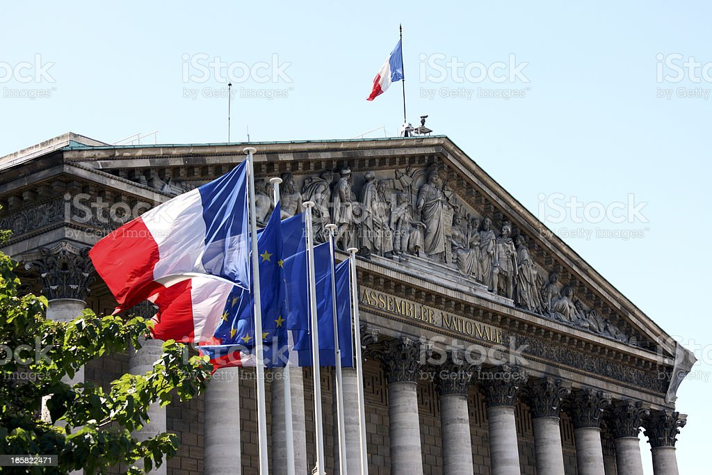 Assembl?e Nationale in Paris stock photo