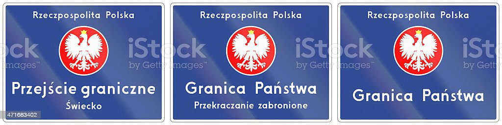 National Border Crossing In Poland stock photo