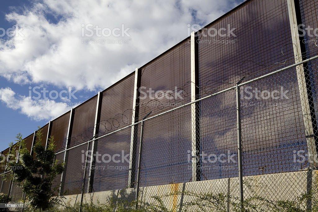 National Border Fence royalty-free stock photo