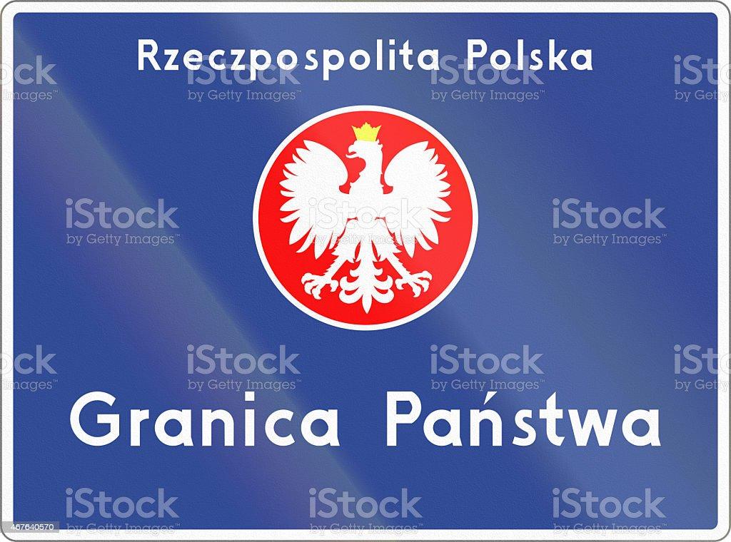 National Border In Poland stock photo