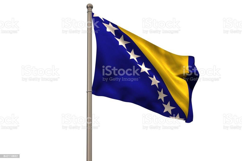 National bosnia and herzegovina flag stock photo