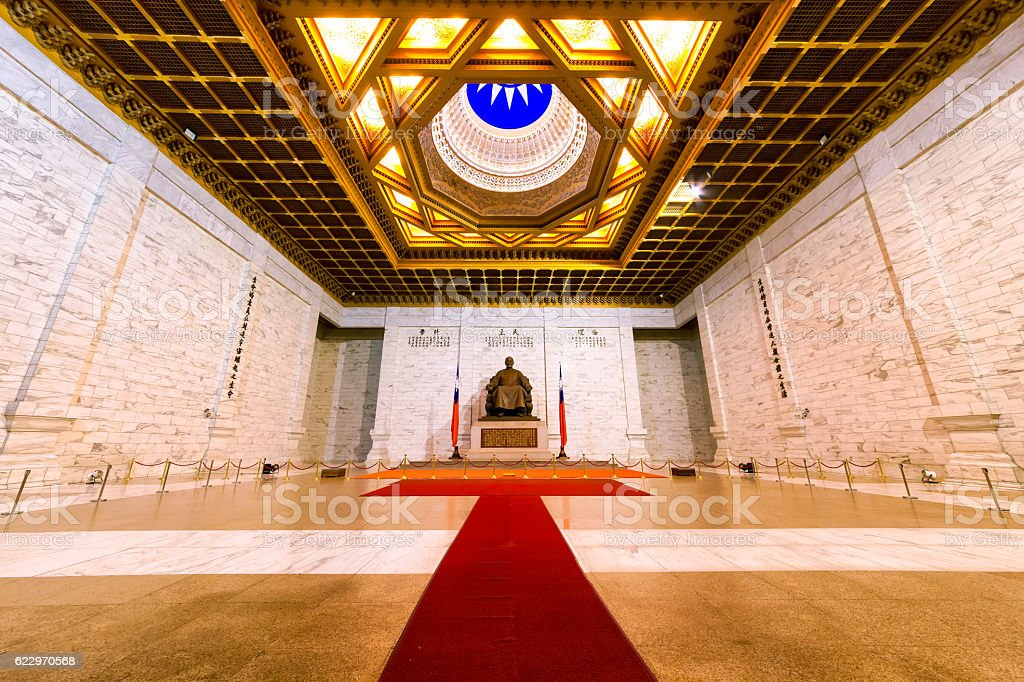 National Bronze statue of Chiang Kai-shek Memorial Hall stock photo