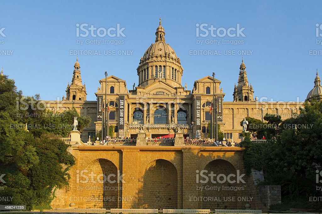 National Catalonia Museum of Art in Barcelona royalty-free stock photo