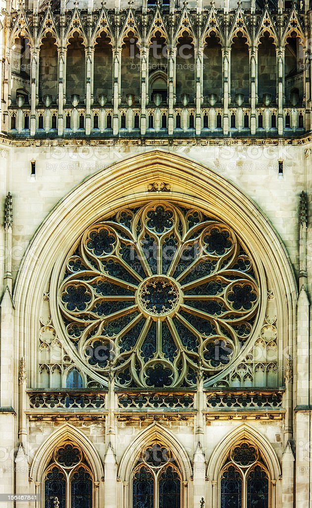 National Cathedral Exterior Wall royalty-free stock photo