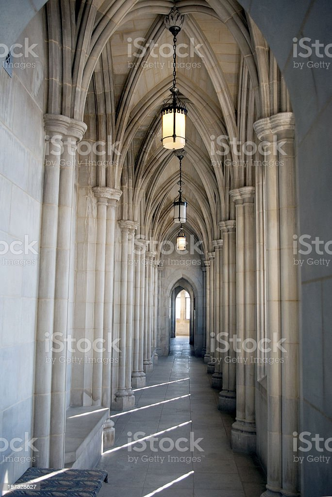 National Cathedral interior stock photo