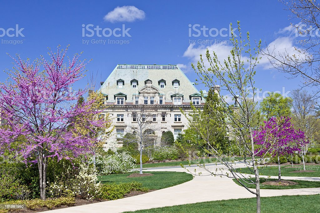 National Cathedral School, Washington DC. stock photo