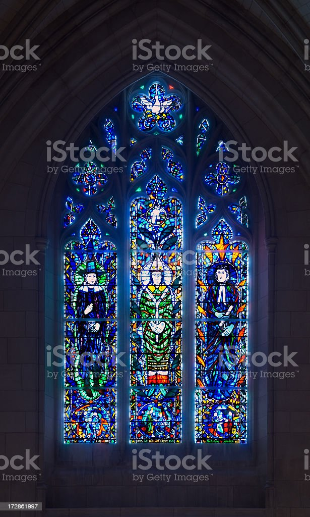 National Cathedral Window stock photo
