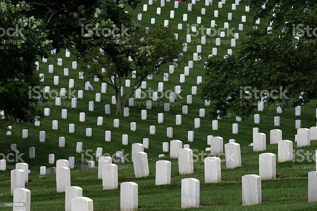 National Cemetery 2 royalty-free stock photo